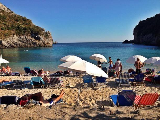 Paleokastritsa Beach in Corfu