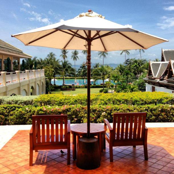 The grounds of Sofitel Phokeethra Krabi Golf and Spa Resort