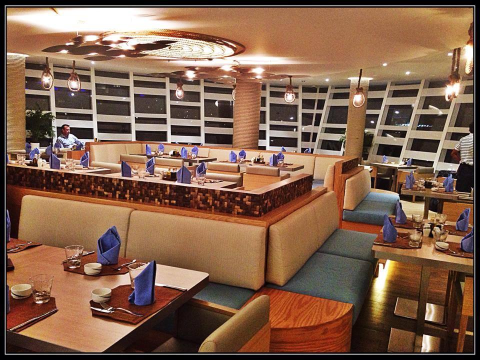 Indoor seating at Boardwalk