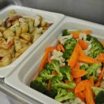 Roasted potatoes, steamed vegetables, Pascal Tepper