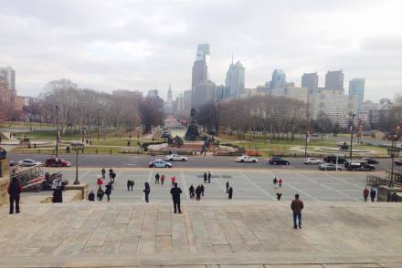 View from Philadelphia Museum of Art steps