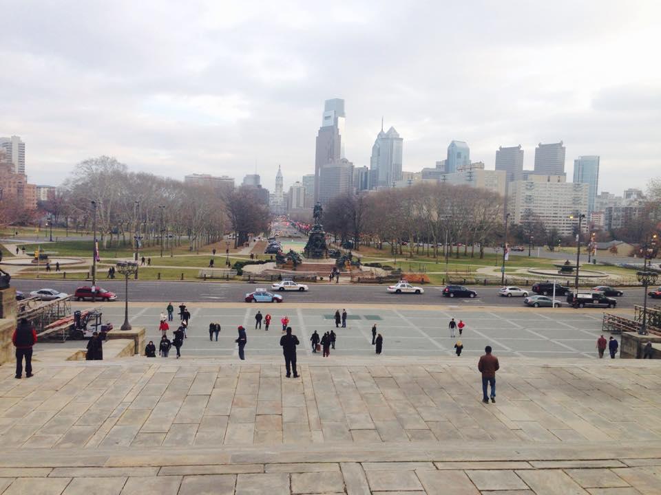 View from Philadelphia Museum of Art steps
