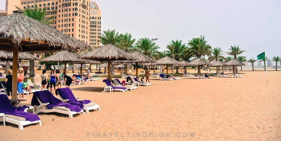Pool and beach access Intercontinental Doha PinayFlyingHigh.com-2