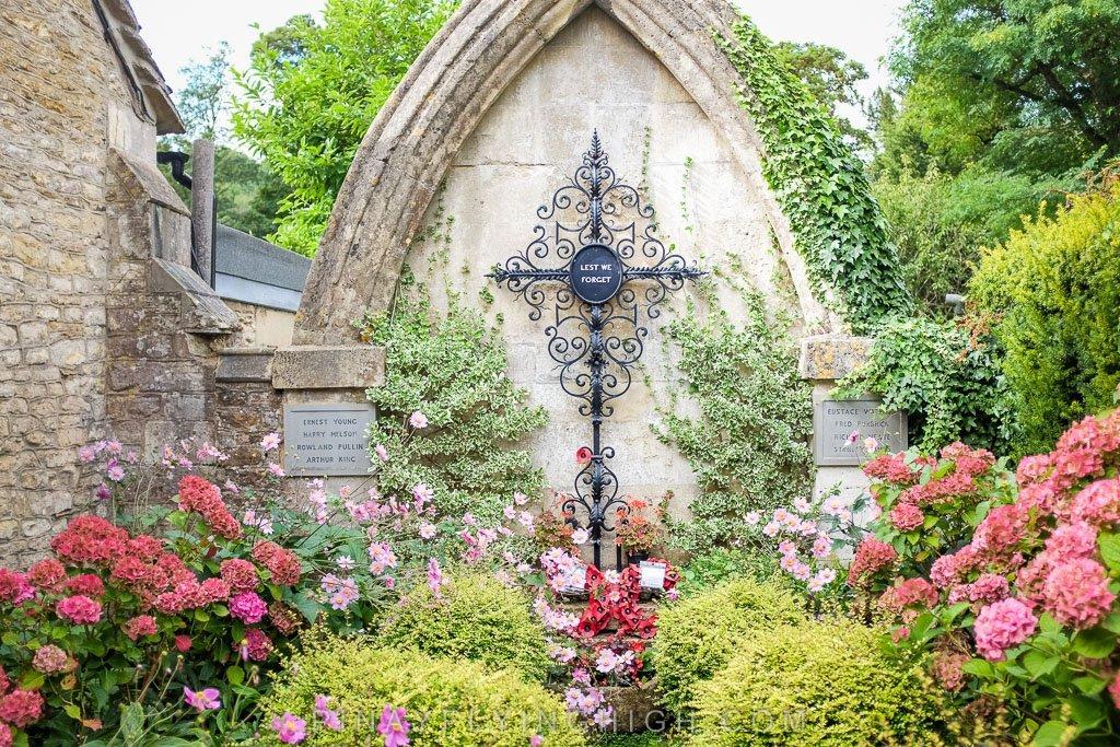 A memorial in Castle Combe.