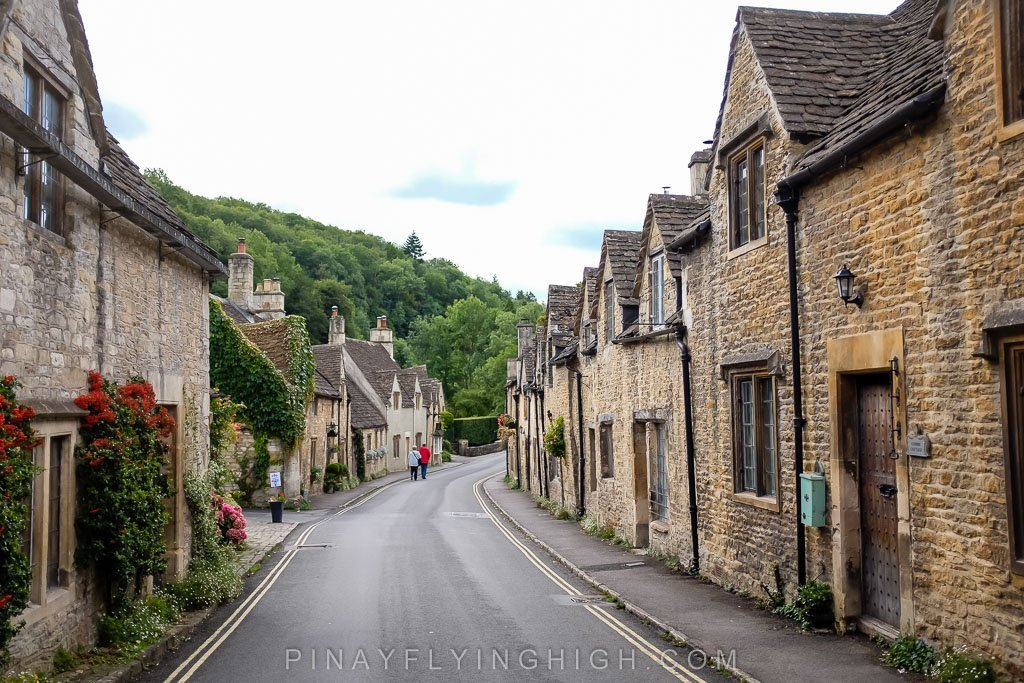 Row of houses in Castle Combe