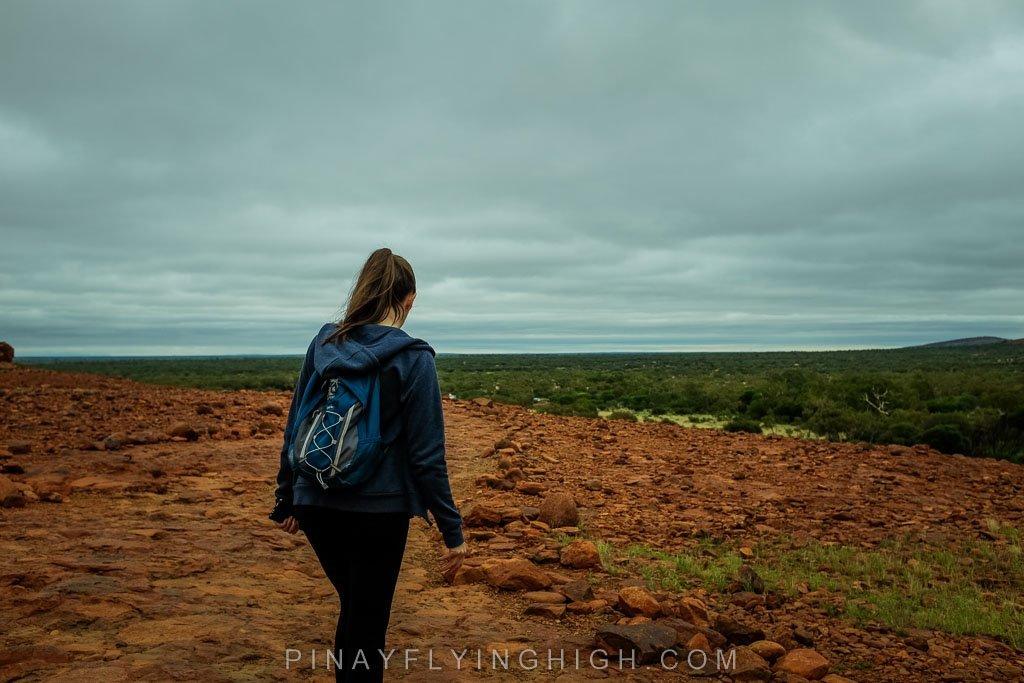 Girl in Kata Tjuta Sunrise Hike