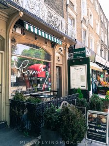 Romulo's Cafe, Kensington, London