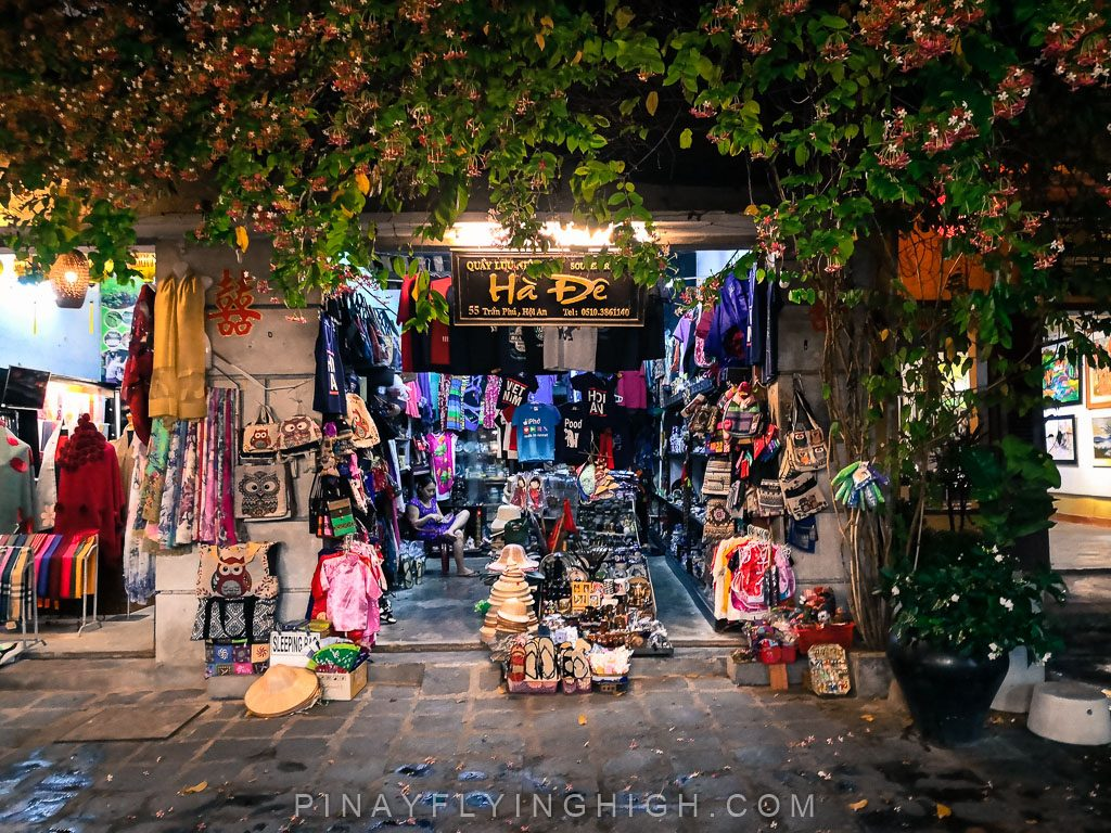 a shop in ancient town, hoi an, vietnam.
