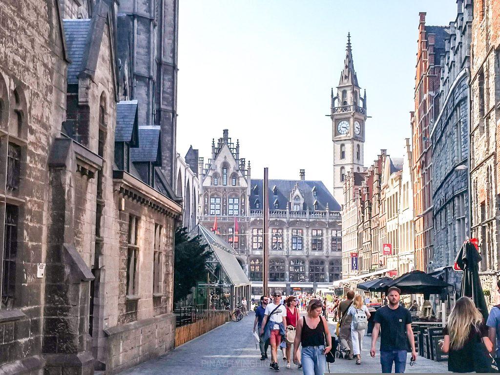 Medieval buildings in Ghent, Belgium