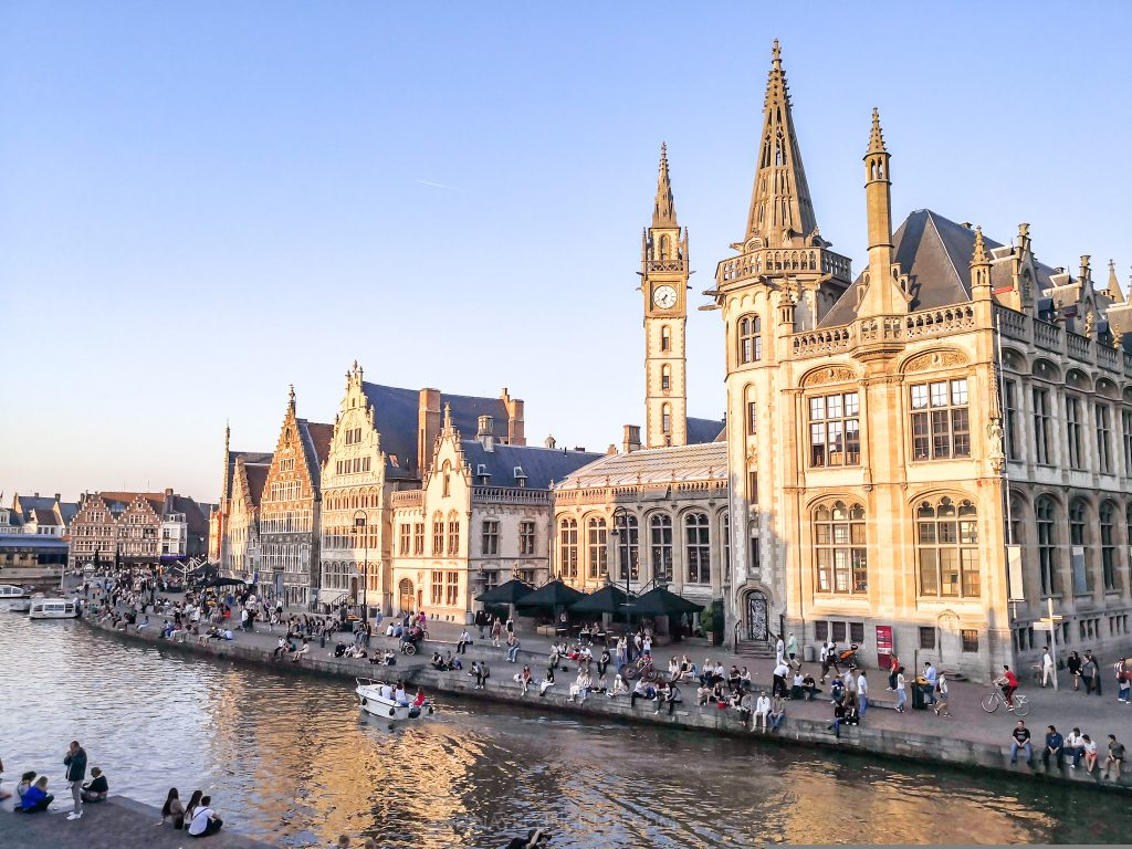 View from St Michael's Bridge in Ghent, Belgium