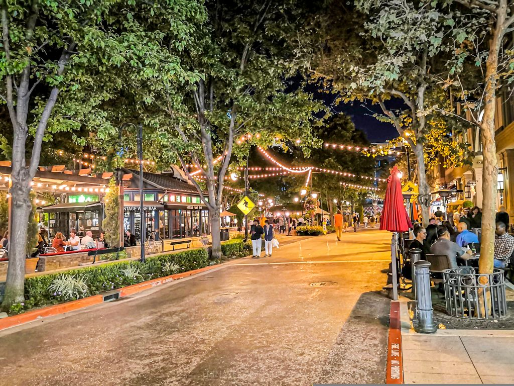 Santana Row, San Jose, California, USA