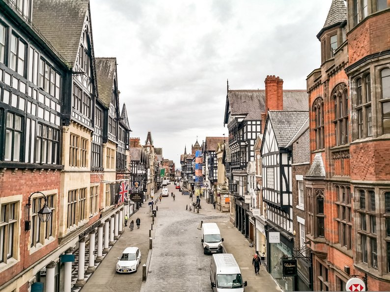 Chester Town Centre, England