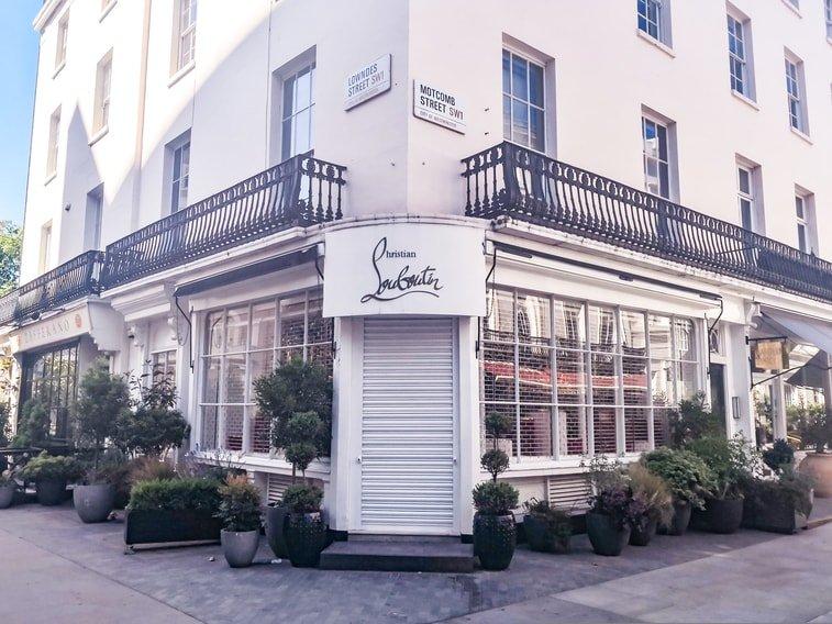 Louboutin Store in Motcomb Street, Belgravia, London