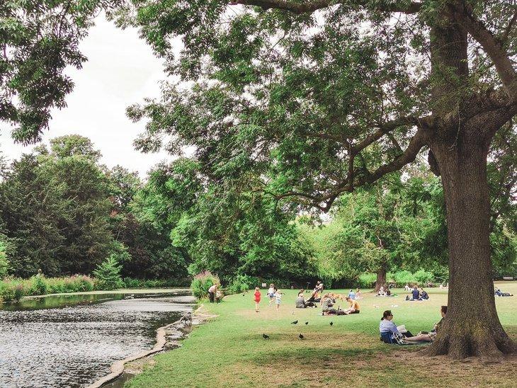 Lake at Chiswick House and Gardens