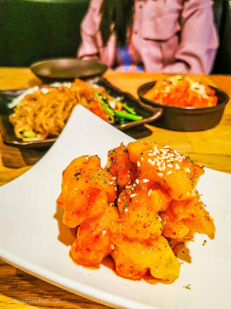 Spicy Calamari at Lime Orange Restaurant