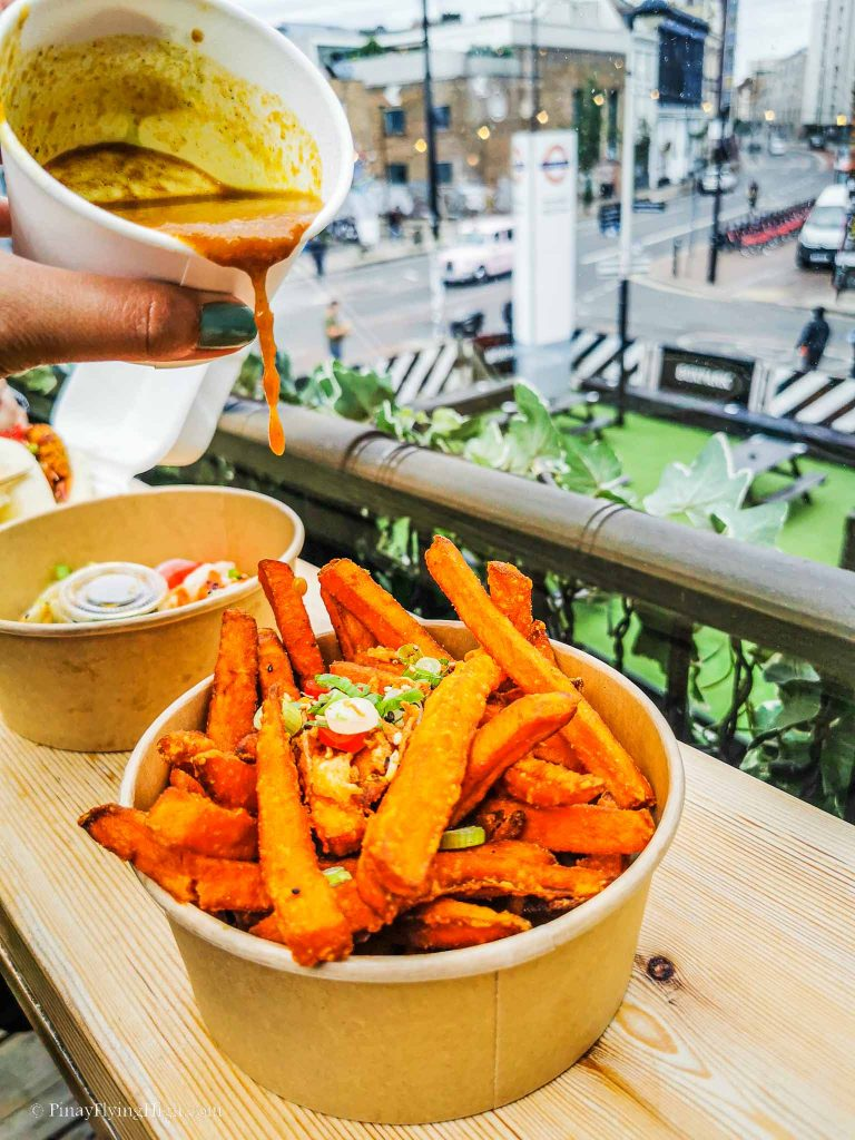Katsu Sweet Potato Fries at Rainbo Food, London, England