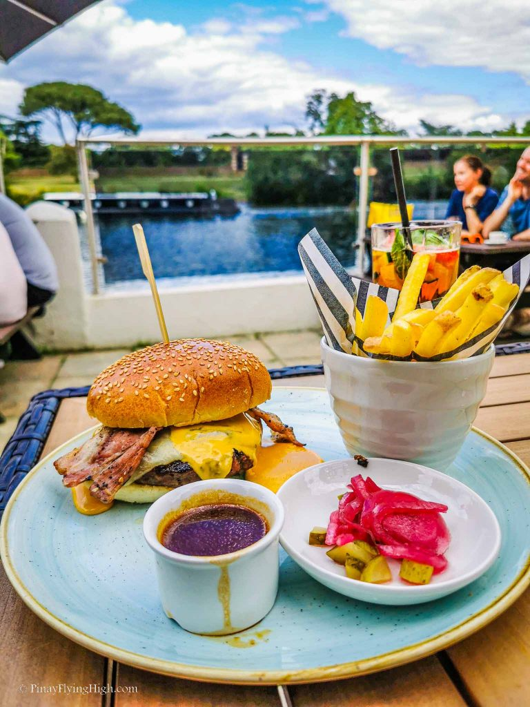 Dirty Burger at The Albany, Thames Ditton, England