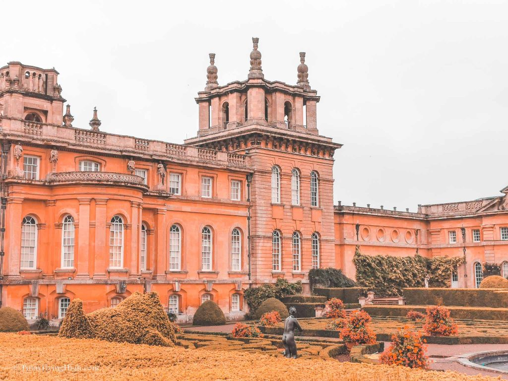 italian gardens, blenheim palace, england
