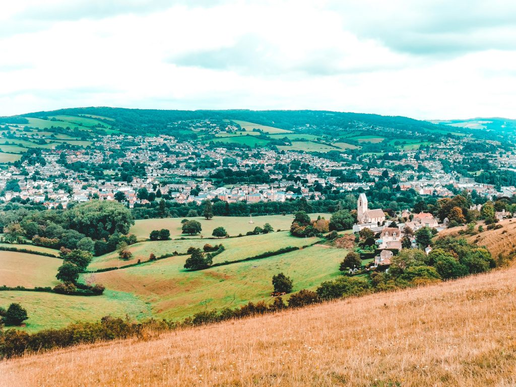 Coaley Peak Viewpoint, Cotswold, England.2