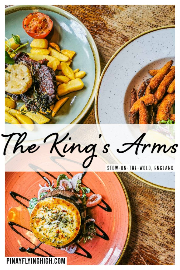 Food served at the King's Arms in Stow-On-The-Wold, England