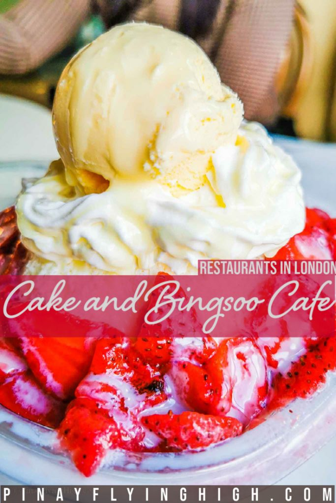 Cake and Bingsoo Cafe, London